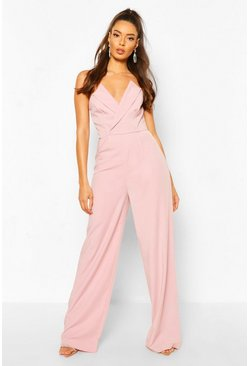 Blush Structured Tailored Jumpsuit