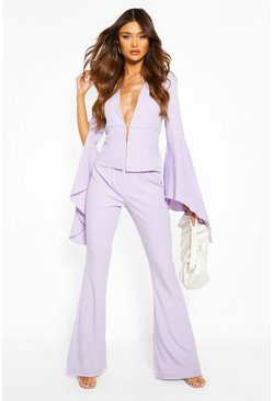Lilac Flare Tailored Pants