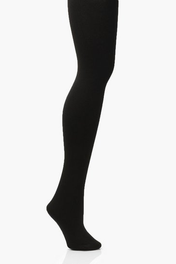 Black Cotton Super Soft Sculpting 200 Denier Tights