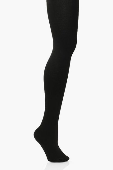Black Fleece Lined Thermal 200 Denier Tights