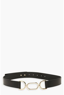 Black Metalwork Waist Belt