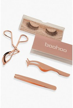 Boohoo Rose Gold Lash Set