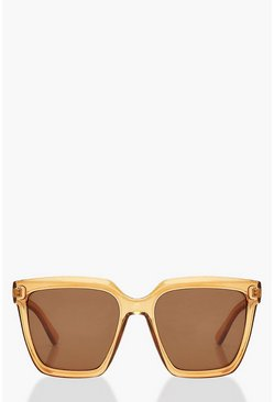 Amber Chunky Square Oversized Sunglasses