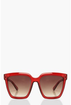 Rose Chunky Square Oversized Sunglasses
