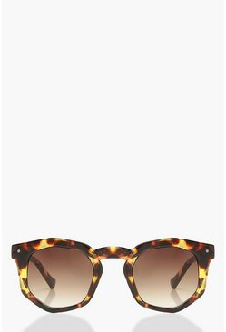 Multi Chunky Hexagon Sunglasses