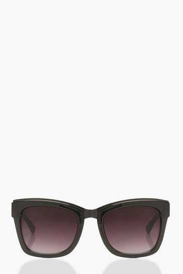 Black Square Sunglasses With Arm Detail