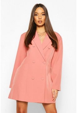 Blush Oversized Masculine Fit Blazer Dress