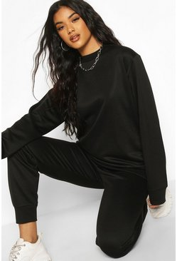 Black Basic Oversized Sweat