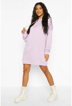 Lilac The Perfect Oversized Hooded Sweat Dress
