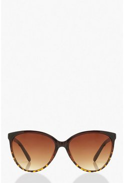 Brown Chain Detail Sunglasses