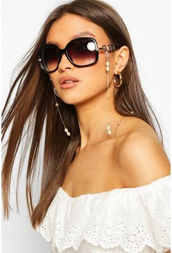 Gold Pearl & Bead Detail Sunglasses Chain