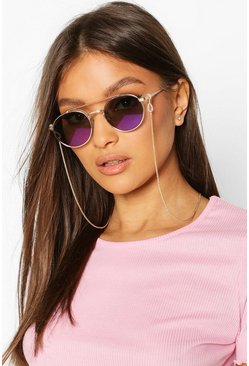 Gold Delicate Chain Link Sunglasses Chain