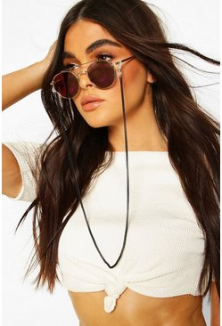 Black Textured Metal Sunglasses Chain
