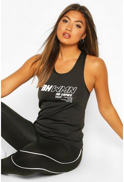 Black Fit Woman Running Vest