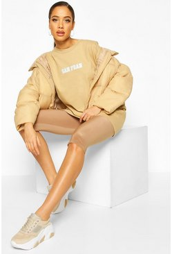 Toffee Oversized Micro Slogan T-Shirt
