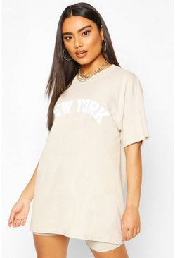 Biscuit Oversized New York Graphic Tee