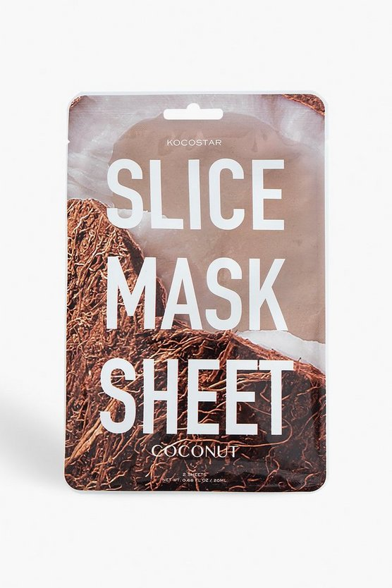 White Kocostar Coconut Slice Mask