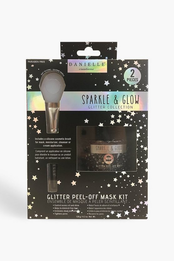 Black 2 Piece Glitter Mask Set