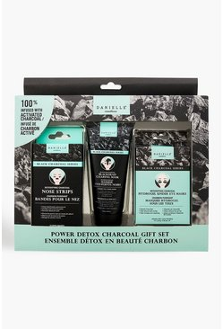 Black 3 Piece Charcoal Detox Gift Set