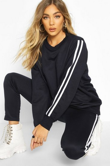 Navy Side Stripe Jogger Set