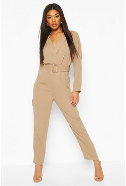Sand Utility Tailored Jumpsuit