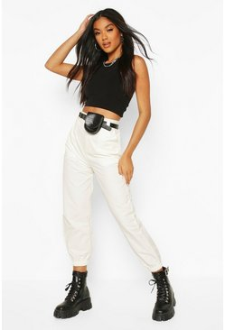 Ivory Cargo Trouser With Belt