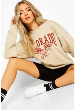 Stone Colorado Slogan Extreme Oversize Sweat