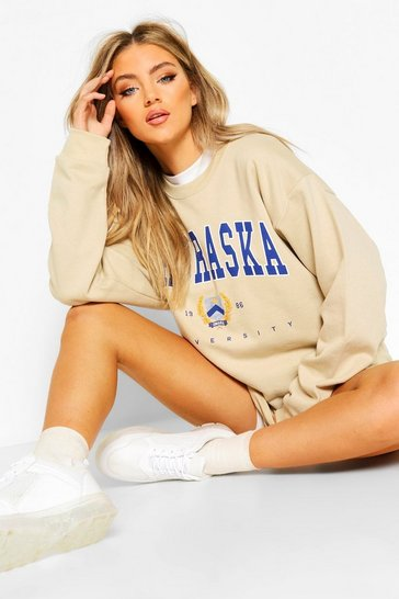 Butterscotch Nebraska Slogan Extreme Oversize Sweat