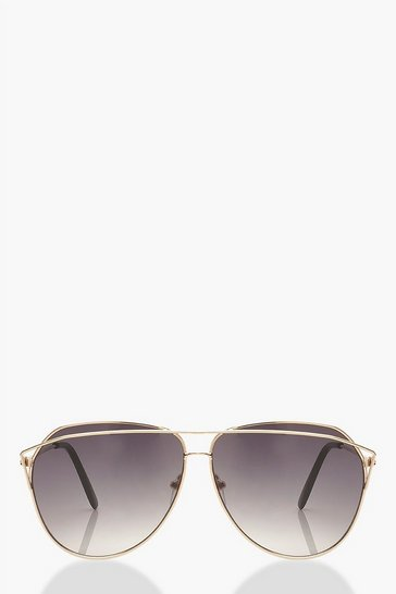 Black Cat Eye Aviator Sunglasses