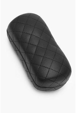Black Quilted Hard Sunglasses Case