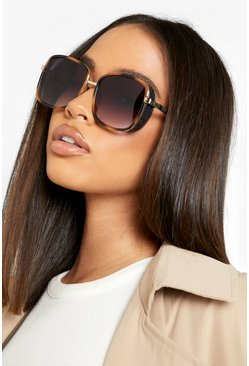 Black Square Oversized Sunglasses
