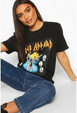 Black Def Leppard Licenced Band Tee