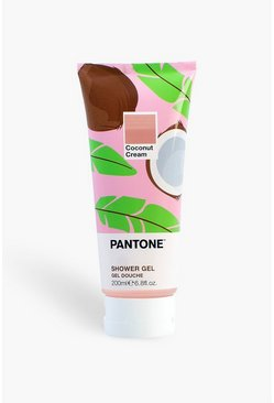 Womens Pink Bubble T Pantone Shower Gel Coconut Cream