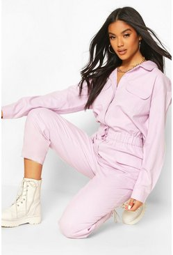 Lilac Utility Denim Boilersuit
