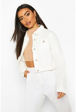 White Boxy Denim Jacket