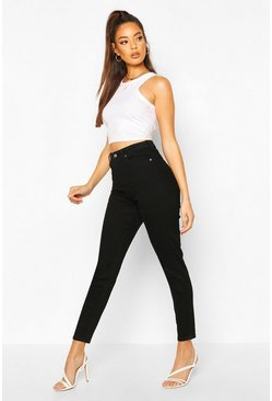 Black High Rise Stretch Skinny Jean