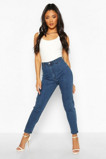Mid blue Butt Shaper High Rise Disco Jegging