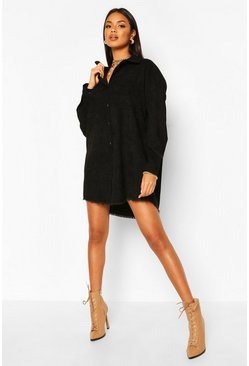 Black Oversized Cord Shirt