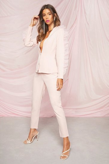 Blush Occasion Tailored Tapered Trousers