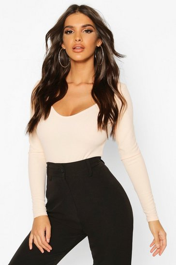 Nude Sweetheart Neck Bodysuit