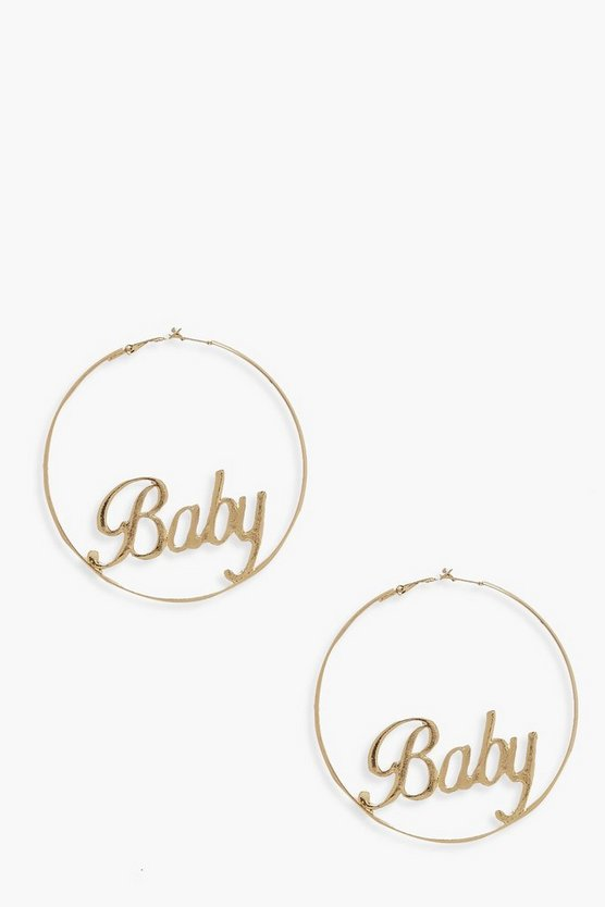 Baby Large Hoop Earrings