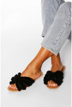 Black Canvas Tassel Detail Sliders