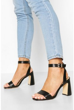 Black Interest Block 2 Part Heels