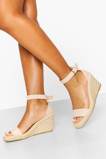 Nude Espadrille Wedge 2 Parts