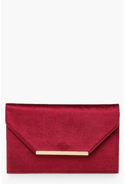 Wine Bar Velvet Clutch Bag