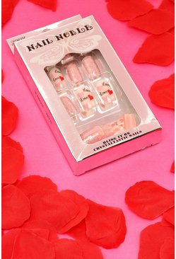 Multi Love & Heart False Nails