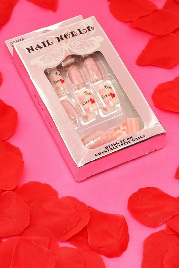 Multi Valentines Love & Heart False Nails