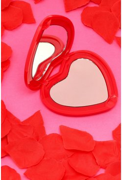 Red Valentines Heart Compact Mirror