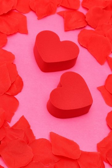 Red Valentines Heart Shape Sponge