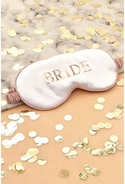 White Bride Satin Sleep Mask